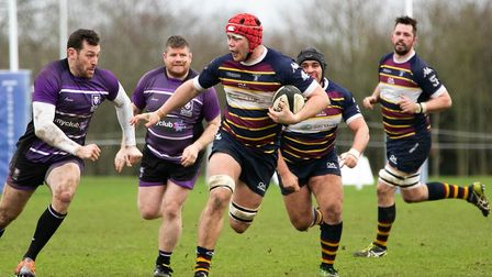 Old Albanian fell to a narrow loss at home to Leicester Lions in National Two South. Picture: NEIL B