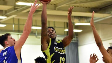 Prince Lartey in action for Leopards against Derby Trailblazers. Picture: PAUL PHILLIPS