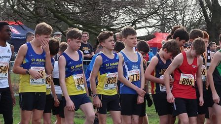 The U15 boys team were the best placed of the St Albans Athletics Club squads at the National Cross-