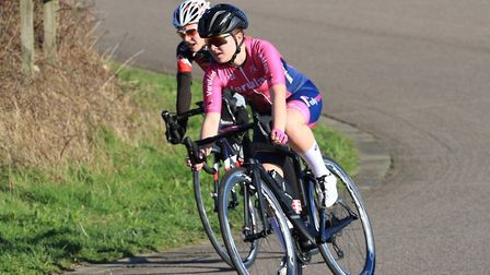 Ella Ruggles in action for Verulam Reallymoving at the Hillingdon Slipstreamers Youth Spring Series.