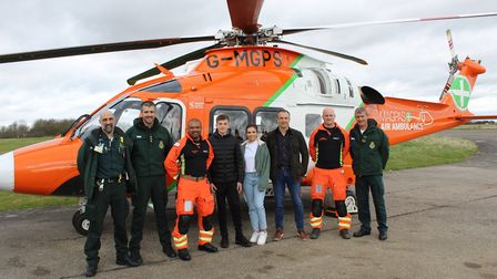 Alice returned to Magpas a year after the incident to thank the doctors who helped save her. PICT