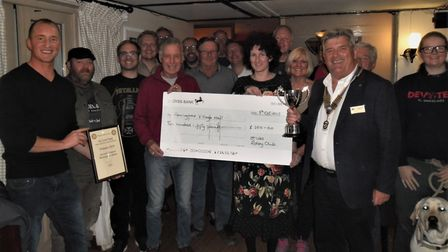 The current champions from the Axe and Compass in Hemingford Abbots. PICTURE: Rotary Club of St Iv