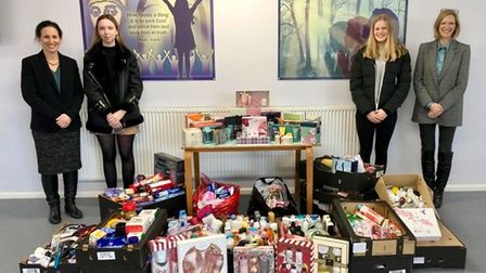 Loreto students marked International Women's Day by collecting items for St Albans women fleeing do