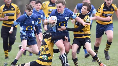 Action from St Neots Under 14s' success against Ely in the East Midlands Cup. Picture: SUBMITTED