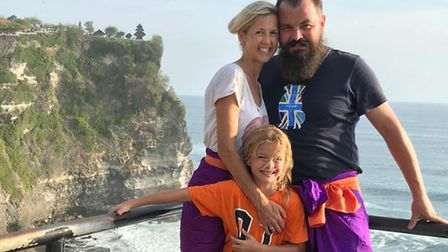 Joanne Glasscock with her husband Willi Messetti and son James. Picture: Courtesy of Joanne Glasscoc