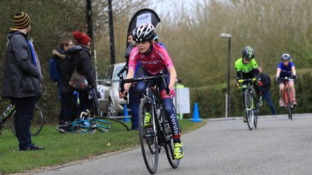 Tyler Six in action for Verulam Reallymoving at Milton Keynes.