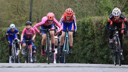 Beth Watson sprints to second place for Verulam Reallymoving at Milton Keynes.