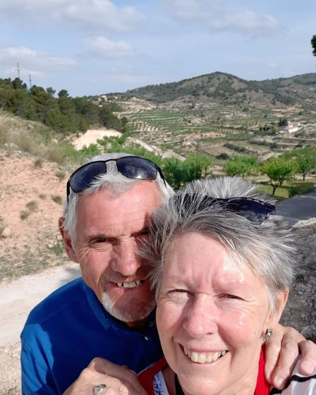 Pauline and Ron at the campsite in El Berro. PICTURE: Contributed