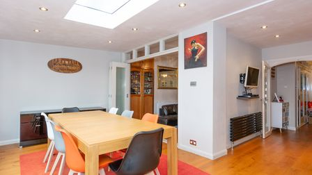 There is a stunning open plan kitchen/dining/family room. Picture: Collinson Hall