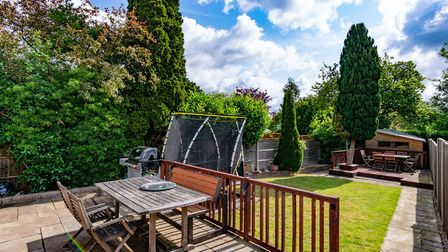 There is a landscaped garden to the rear of the property. Picture: Collinson Hall