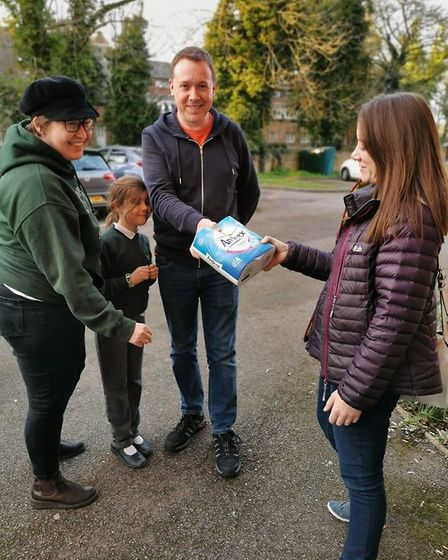 The Robinson family were the first to donate to Emmaus Hertfordshire after the appeal. Picture: Emma