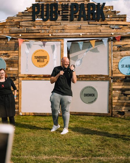 Chef Tom Kerridge will return to St Albans with food festival Pub in the Park. Picture: Supplied by