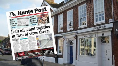The Hunts Post office on the High Street will be closed from tomorrow.