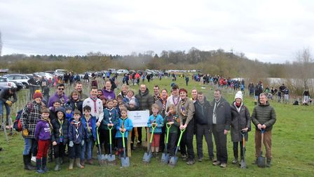 Scouts from across the district planted thousands of trees to help make a different to climate chang