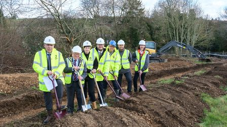 The groundbreaking ceremony took place at the Westfield Recreation Ground site earlier this month. P