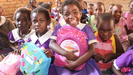 The St Albans women helped children in Malawi. Picture: Supplied
