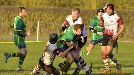 Action from Huntingdon's victory against Bedford side Queens this season. Picture: DUNCAN LAMONT