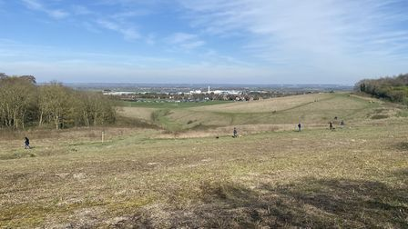 People out on Therfield Heath in the sunshine at the weekend. Picture: Clare Swarbrick