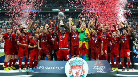 Liverpool have already lifted a couple of trophies this season, including this triumph in the UEFA S