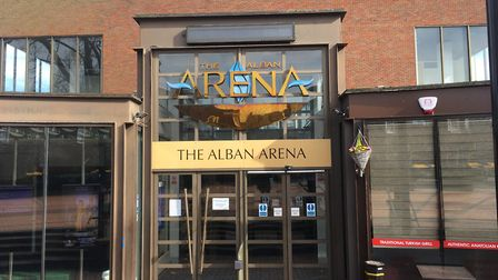 The Alban Arena in St Albans has closed until further notice due to the coronavirus pandemic. Pictur