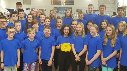 The 2020 St Albans District Secondary Schools swimming squad who competed at the Hertfordshire Inter