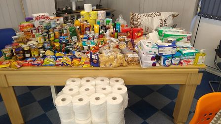 Food and supply hampers have been sent out to youngsters across the county