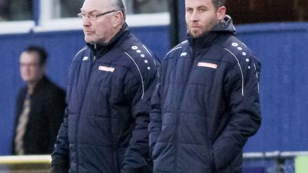 Chris Winton says Ian Allinson has been a mentor to him since arriving at St Albans City. Picture: J