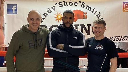 St Albans boxer Ben Callum (centre) has had his first professional fight postponed due to the corona