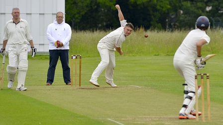 Action from a Hunts League game between Upwood 2nds and Little Paxton last summer. Picture: DUNCAN L