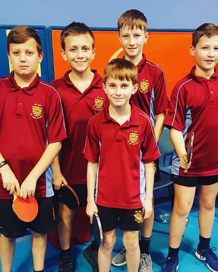 St Ivo Academy won the Year 7 Boys Table Tennis Competition. Picture: SUBMITTED