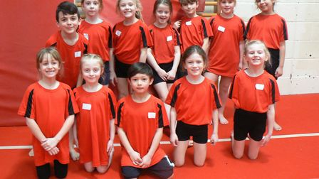 The Houghton Primary School team at the gymnastics competition. Picture: SUBMITTED