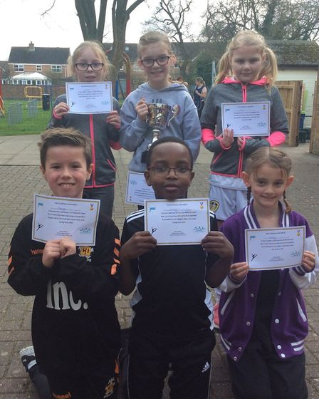 The successful Bury CofE Primary School team which won the 'B' competition. Picture: SUBMITTED