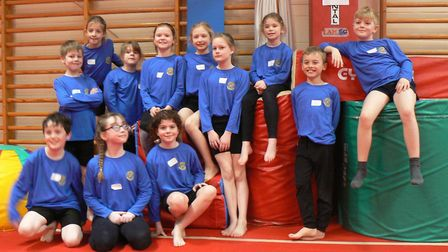 Pupils from St Helen's Primary School, in Bluntisham, at the gymnastics event. Picture: SUBMITTED