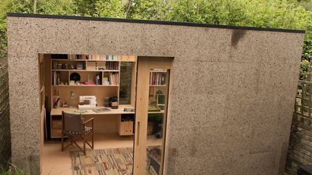 The Cork Studio - an eco garden office made partly from cork - was one of 32 sheds shortlisted in th