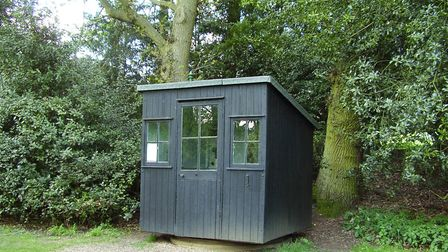 This shed in Ayot St Lawrence was used by George Bernard Shaw as his writing hut. Picture: Aex Johns