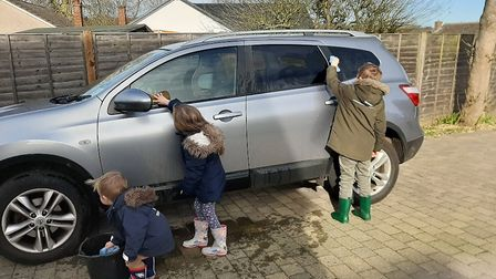 Children from St Albans learning how to wash the cash amid Coronavirus school lockdown. Picture: Sup