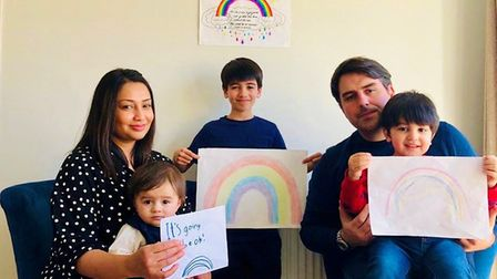 Preet Cox, who started the St Albans Rainbow Trails group, with her three sons Theo, Charlie and Har