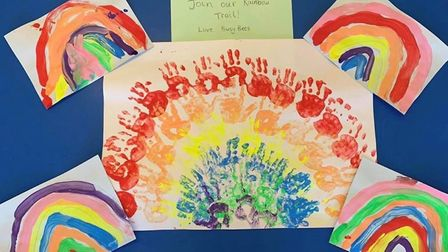 Key workers' children who are attending Busy Bees Marshalswick have also been getting involved in th