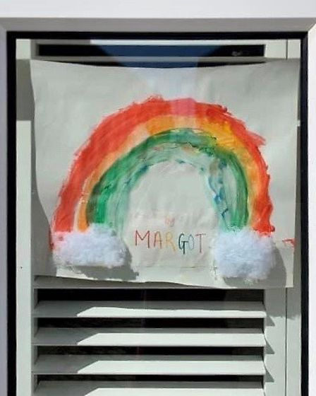 Margot Clarke's contribution towards the St Albans Rainbow Trails. Picture: Supplied