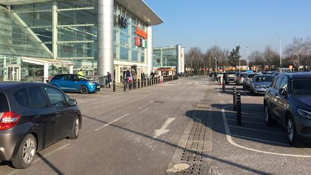 Shopping at Sainsbury's in London Colney during the lockdown.