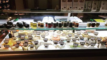 The Bishop's Cave cheese counter.