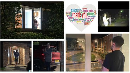 Clap for Carers, local residents took to their doorsteps last night to show their appreciation for N
