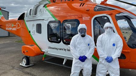 Magpas Air Ambulance Service dressed in PPE equipment PICTURE:Magpas Air Ambulance Se