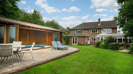 The secluded rear garden backs directly onto open countryside. Picture: Bradford & Howley