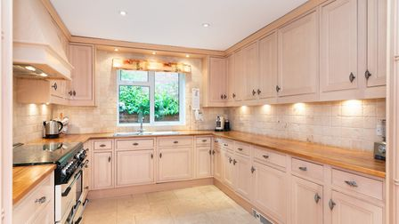 The kitchen/breakfast room has space for a range cooker. Picture: Bradford & Howley