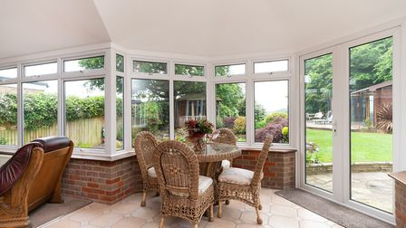 """The conservatory measures 24'7"""" x 14'. Picture: Bradford & Howley"""