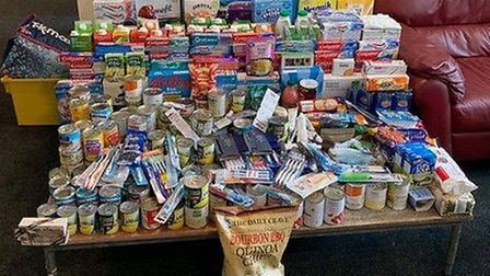St Columba's College students have been collecting for local food banks.