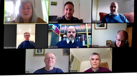 Harpenden Cares organisers leading by example with virtual meetings while volunteering for the vulne