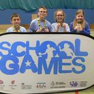 The Bury CofE Primary School team who won the Hunts School Sports Partnership SEN event. Picture: SU