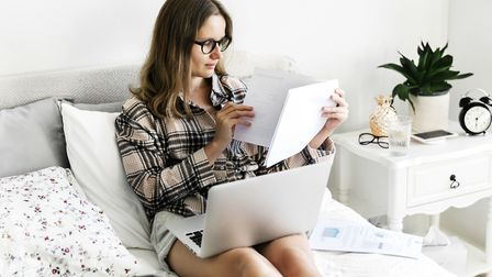 Banish the bedroom: Working from your bed may not be the healthiest idea. Picture: iStock/PA